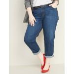 Mid-Rise Boyfriend Straight Plus-Size Jeans
