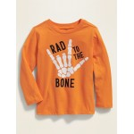 Halloween Graphic Long-Sleeve Tee for Toddler Boys