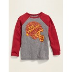 College Team Graphic Raglan-Sleeve Tee for Toddler