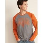 College-Team Graphic Raglan-Sleeve Tee for Men