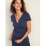 Maternity Faux-Wrap-Front Nursing Top