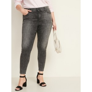 High-Rise Secret-Slim + Waistband Plus-Size Rockstar Super Skinny Jeans