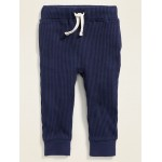 Thermal-Knit Functional-Drawstring Joggers for Toddler Boys