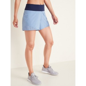 Mid-Rise Jersey-Waist Run Shorts for Women  4-inch inseam