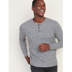 Built-In Flex Thermal-Knit Henley for Men