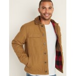 Flannel-Lined Canvas Workwear Jacket for Men