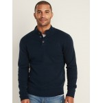 Button-Down Mock-Neck Sweater for Men