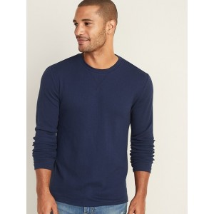 Soft-Washed Thermal-Knit Tee for Men