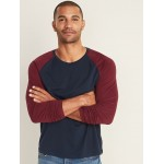 Soft-Washed Color-Blocked Raglan-Sleeve Tee for Men