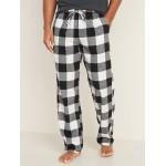 Patterned Flannel Sleep Pants for Men