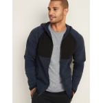 Sweater-Knit Zip Performance Hoodie for Men