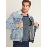 Sherpa-Lined Jean Jacket For Men