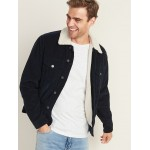 Sherpa-Lined Corduroy Trucker Jacket for Men