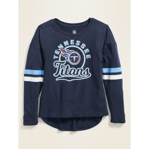 NFL® Team-Graphic Sleeve-Stripe Tee for Girls