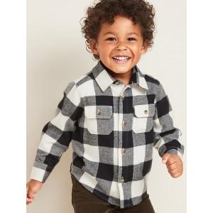 Buffalo-Plaid Flannel Utility Shirt for Toddler Boys