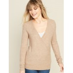 Maternity Cross-Front Nursing Sweater
