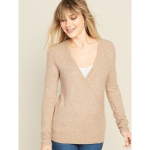 Maternity Cross-Front Nursing Sweater
