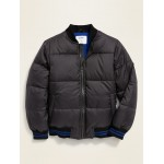 Water-Resistant Puffer Bomber Jacket for Boys