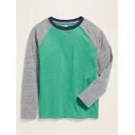 Softest Color-Blocked Raglan-Sleeve Tee for Boys
