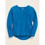 Softest Long-Sleeve Slub-Knit Tee for Girls