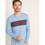 Soft-Washed Chest-Stripe Tee for Men