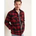 Sherpa-Lined Wool-Blend Shirt Jacket for Men