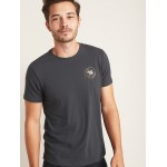 Graphic Soft-Washed Crew-Neck Tee for Men