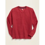 French-Rib V-Neck Sweater for Boys