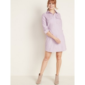 Corduroy Shirt Dress for Women