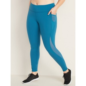 High-Waisted Elevate Side-Pocket Compression Plus-Size Leggings
