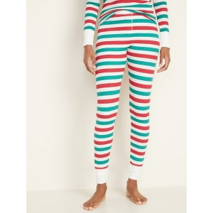 Mid-Rise Thermal-Knit Pajama Pants for Women