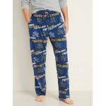 College-Team Flannel Pajama Pants for Men