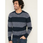 Super-Soft Striped Crew-Neck Sweater for Men