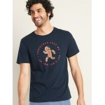 Christmas-Graphic Soft-Washed Tee for Men