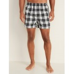 Patterned Flannel Boxers for Men  4.25