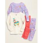 4-Piece Pajama Set for Toddler Girls & Baby