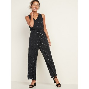Sleeveless Tie-Belt Jumpsuit for Women