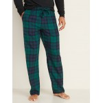 Patterned Flannel Pajama Pants for Men