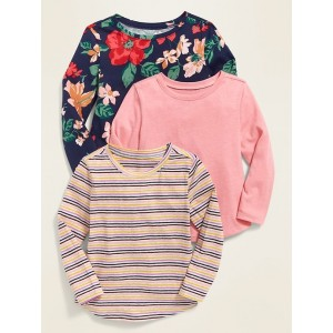 Long-Sleeve Tee 3-Pack for Toddler Girls