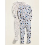 Patterned Footie Pajama One-Piece 2-Pack for Toddler & Baby