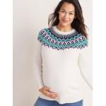 Maternity Fair Isle Pullover Sweater