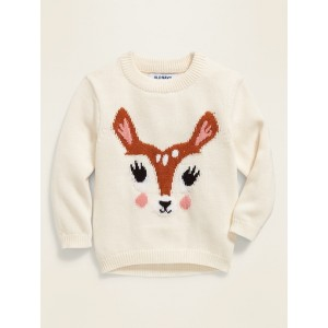 Critter Graphic Sweater for Toddler Girls