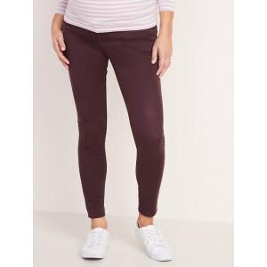 Maternity High-Waisted Premium Full-Panel Super Skinny Sateen Rockstar Jeans