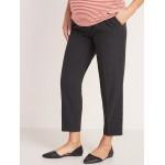Maternity Mid-Rise Full-Panel Pull-On Straight Pants