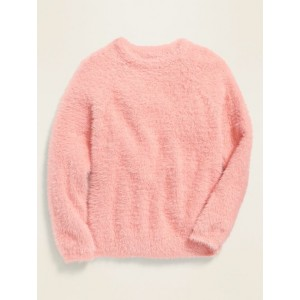 Fuzzy Crew-Neck Sweater for Girls