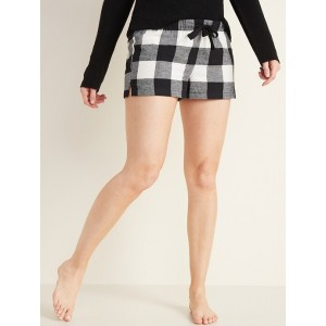 Mid-Rise Flannel Boxers for Women - 2.5-inch inseam