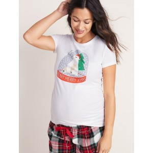 Maternity Slim-Fit Graphic Tee