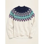 Fair Isle Mock-Neck Sweater for Girls