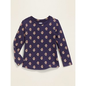 Floral-Print Long-Sleeve Tee for Toddler Girls
