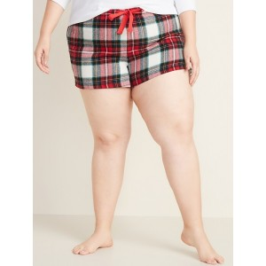 Printed Flannel Plus-Size Boxers